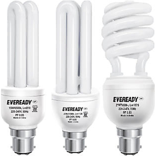 Eveready ELT 20W, ELS 27W And ELD 15W CFL Bulb (White, Pack of 3) Image