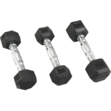 Fit Next Taiwan Rubber Hexagon  Dumbbells Pair Of 12.5 Kgs.