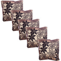 Hard Rock Set Of 5 Designer Velvet Cushion Cover-golden