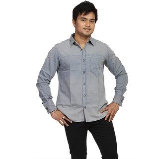 Fast N Fashion In Vogue Grey Mens Denim Shirt