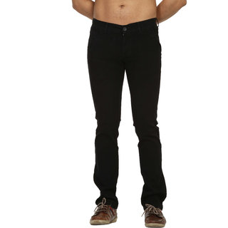 Fast N Fashion In Style Black Mens Chinos