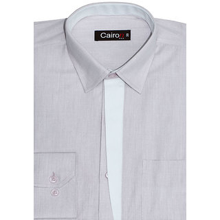 Cairon A La Mode Blue Solid Smart Formal Shirt