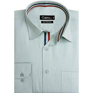 Cairon Mod Green Oxford Smart Formal Shirt