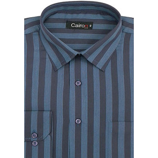Cairon Latest Brown Stripe Executive Formal Shirt