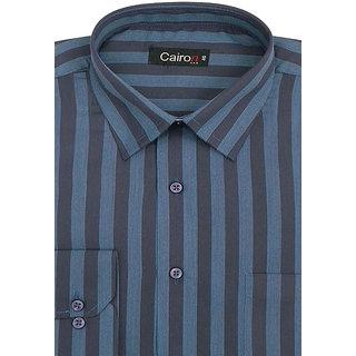 Cairon Latest Brown Stripe Executive Formal Shirt