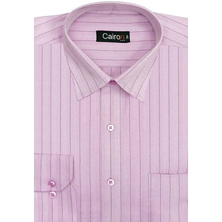 Cairon New Pink Herringbone Stripe Executive Formal Shirt