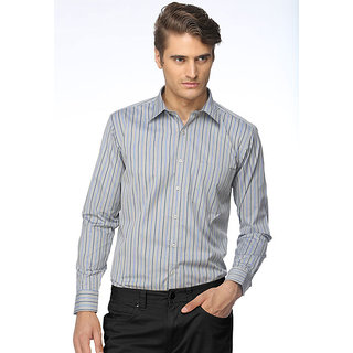 Cairon Sharp Blue Stripe Executive Formal Shirt Design 1