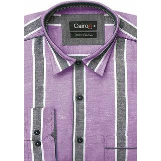 Cairon Chic Purple Stripe Smart Formal Shirt