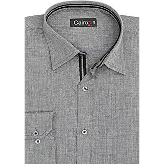 Cairon Sassy Grey Solid Executive Formal Shirt