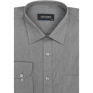 Cairon Mod Grey Solid Oxford Premium Formal Shirt