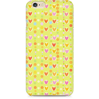 Zenith Cute Colorful Hearts Premium Printed Cover For Apple iPhone 6 Plus/6s Plus