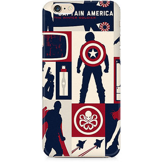 Zenith Captain America Collage Premium Printed Mobile cover For Apple iPhone 6/6s