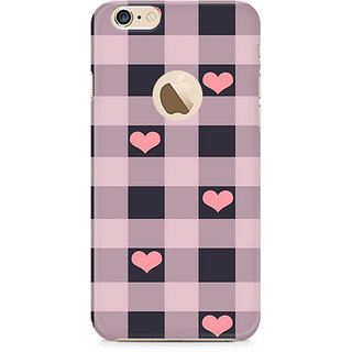Zenith Checksy Hearts Premium Printed Mobile cover For Apple iPhone 6/6s with hole