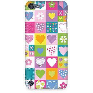 Zenith Abstract Hearts Premium Printed Mobile cover For Apple iPod Touch 5