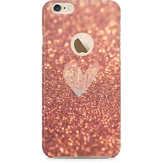 Zenith Rose Gold Sparkle Premium Printed Mobile cover For Apple iPhone 6/6s with hole