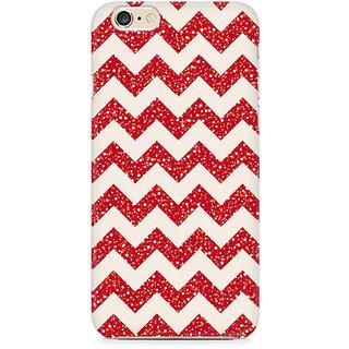 Zenith Red Glitter Chevron Premium Printed Cover For Apple iPhone 6 Plus/6s Plus