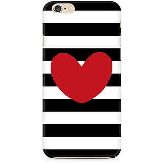 Zenith Red On Black and White Premium Printed Cover For Apple iPhone 6 Plus/6s Plus