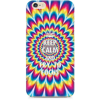 Zenith keep calm and focus trippy Premium Printed Mobile cover For Apple iPhone 6/6s