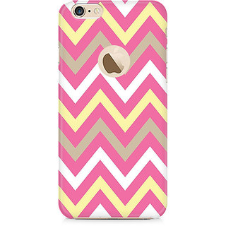 Zenith Yellow And Pink Broad Chevron Premium Printed Mobile cover For Apple iPhone 6/6s with hole