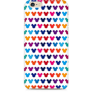 Zenith Mickie Mulitcolor on White Premium Printed Mobile cover For Apple iPhone 6/6s