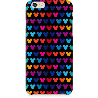 Zenith Mickie Mulitcolor on Black Premium Printed Mobile cover For Apple iPhone 6/6s