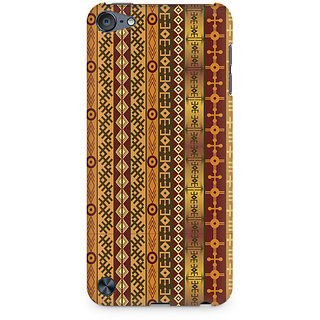 Zenith Orange Tribal Strips Premium Printed Mobile cover For Apple iPod Touch 6