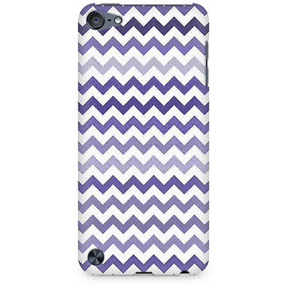 Zenith Purple Chevron Shades Premium Printed Mobile cover For Apple iPod Touch 6