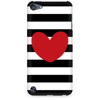 Zenith Red On Black and White Premium Printed Mobile cover For Apple iPod Touch 6