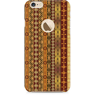 Zenith Orange Tribal Strips Premium Printed Mobile cover For Apple iPhone 6/6s with hole