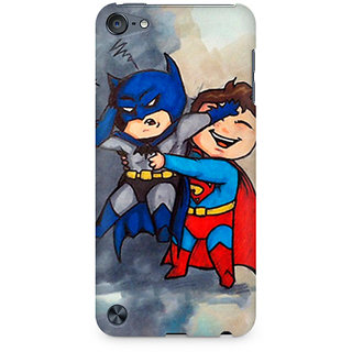 Zenith Batman and Superman Kids Premium Printed Mobile cover For Apple iPod Touch 6
