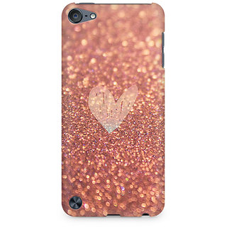 Zenith Rose Gold Sparkle Premium Printed Mobile cover For Apple iPod Touch 6