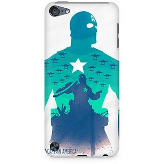 Zenith Captain America Minimalist Premium Printed Mobile cover For Apple iPod Touch 6
