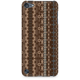 Zenith Brown Tribal Strips Premium Printed Mobile cover For Apple iPod Touch 5