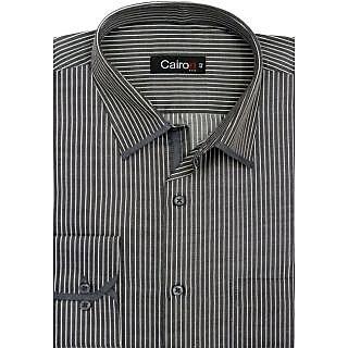 Cairon Dashing Black Stripe Smart Formal Shirt
