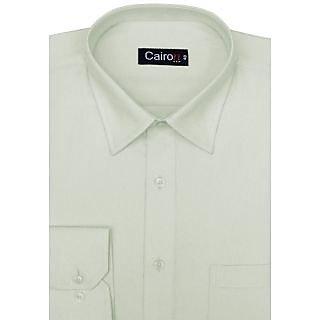 Cairon A La Mode Light Green Solid Executive Formal Shirt