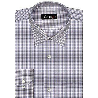 Cairon Sassy Blue Check Executive Formal Shirt