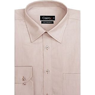 Cairon New Peach Solid Filafil Executive Formal Shirt