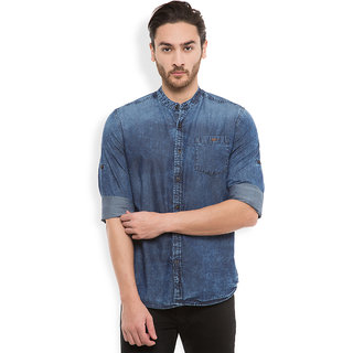 Locomotive Blue Full sleeves Casual Shirt For Men