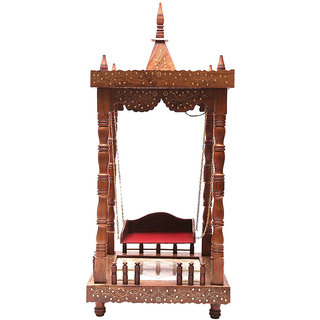 Shilpi Brown Sheesham Wood Exquisite Temple / Mandir / Puja Esstential / Wooden Mandir - (NSHC0070)