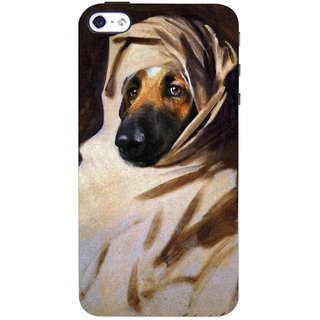 Stubborne Stylish Dog 3D Printed Apple Iphone 4S Back Cover / Case