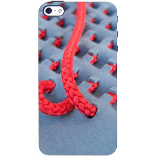 Stubborne Pink Thread Pattern 3D Printed Apple Iphone 4 Back Cover / Case