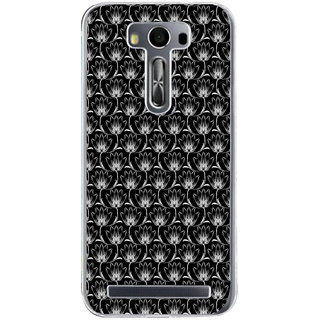 Ifasho Animated Pattern Black And White Many Lotus Flower Back Case Cover For Asus Zenfone Selfie