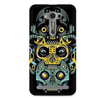 CopyCatz Three Skulls Premium Printed Case For Asus Zenfone 2 Laser ZE500