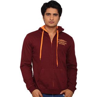 Lucfashion Multicolor Hooded Long Sleeve Sweatshirt For Men