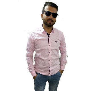 Pink Matty Plain Shirt For Men