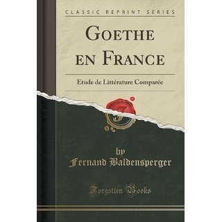 Goethe En France
