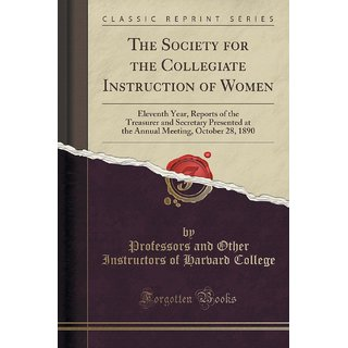 The Society For The Collegiate Instruction Of Women