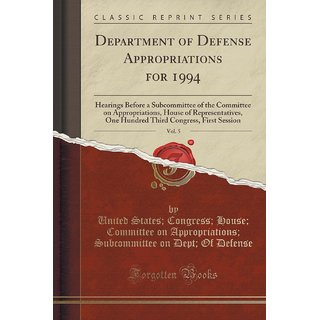Department Of Defense Appropriations For 1994, Vol. 5