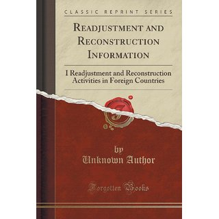 Readjustment And Reconstruction Information