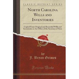 North Carolina Wills And Inventories